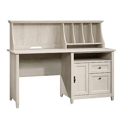 amazon com sauder 419088 edge water computer desk with hutch l rh amazon com