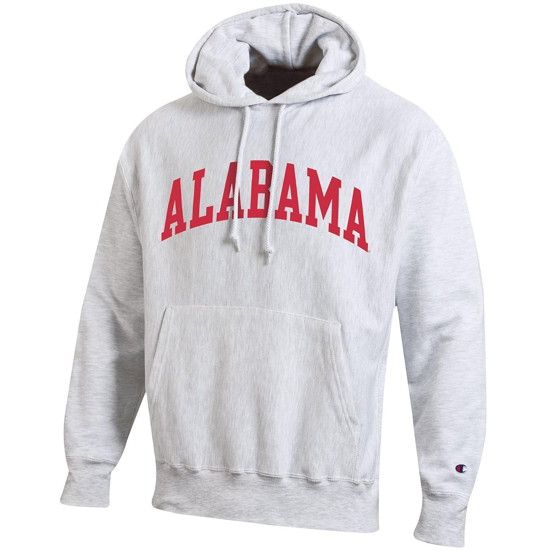 Champion NCAA Mens NCAA Mens Reverse Weave Gray Arch Long Sleeve Hooded Sweatshirt