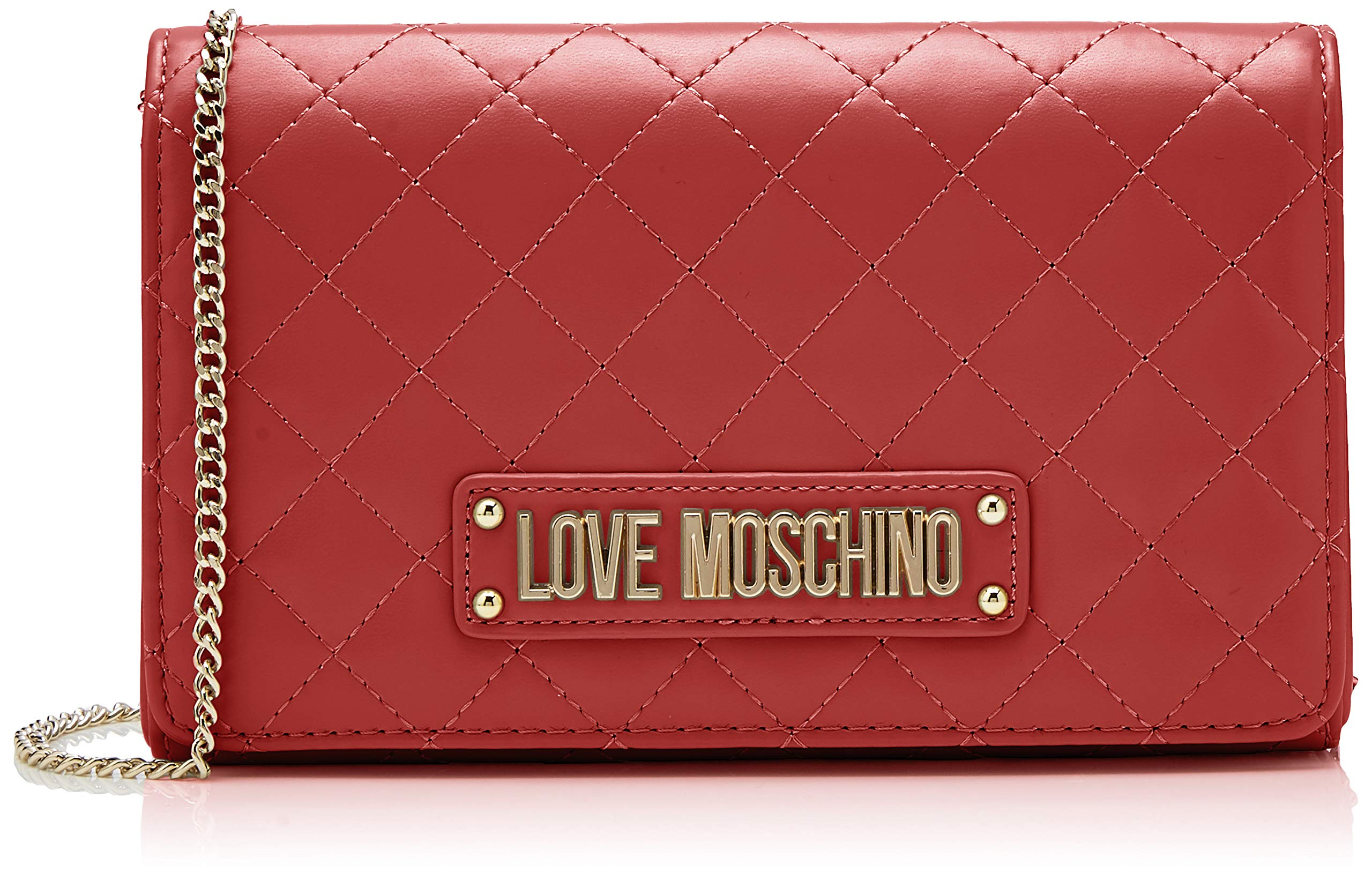 Love Moschino Quilted Nappa Pu, Women's Clutch, Red (Rosso), 15x10x15 cm (W x H L)