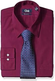 Arrow Mens Dress Shirts Athletic Fit Solid Poplin Spread Collar At