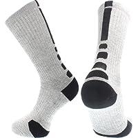 Aisprts Herren Sport-Socken, hohe Qualität, für Basketball, Fußball, Wandern, Laufen, erhältlich in weiß, schwarz, rot, grau EU 39-45
