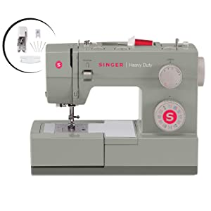 SingerHeavy Duty 4452 Sewing Machine With Accessories, 32 Built-In Stitches, 60% Stronger Motor, Stainless Steel Bedplate, 48% Faster Stitching Speed & Automatic Needle Threader