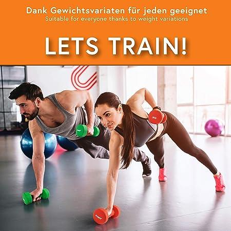 None//Marque Dames Halt/ères Poids Ensemble /& Cas Gym Exercice Tonification du Corps Fitness Yoga 10KG