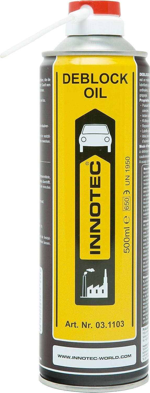 INNOTEC Deblock aceite eliminador de ó xido Spray 500 ml shopping-s-company Innotec