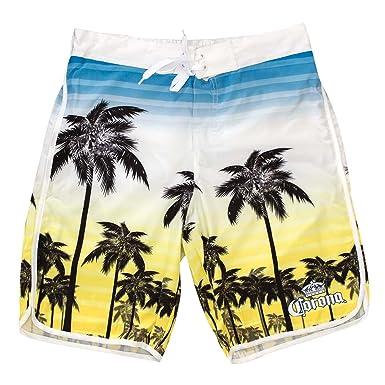 60b736dc23 Men's Corona Blue To Yellow Sunset Board Shorts XL | Amazon.com
