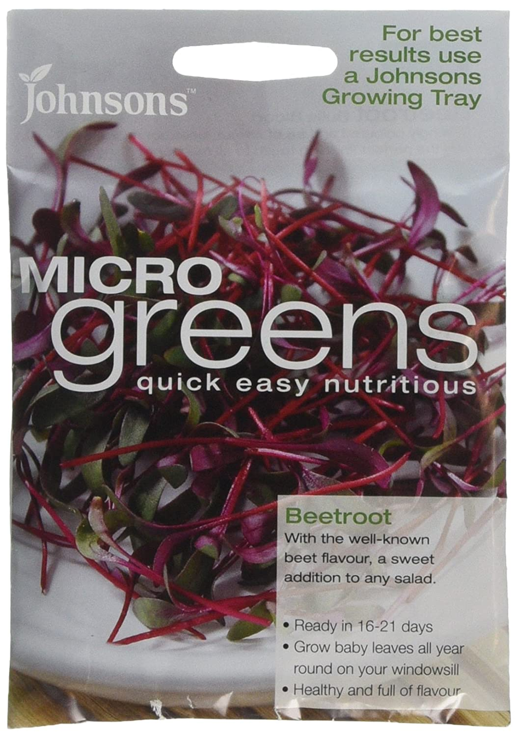 Johnsons 24700 Microgreens Beetroot Seeds - Green