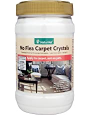 NaturVet No Flea Carpet Crystals for Carpets and Upholstery, 2 lb Crystals, Made in USA