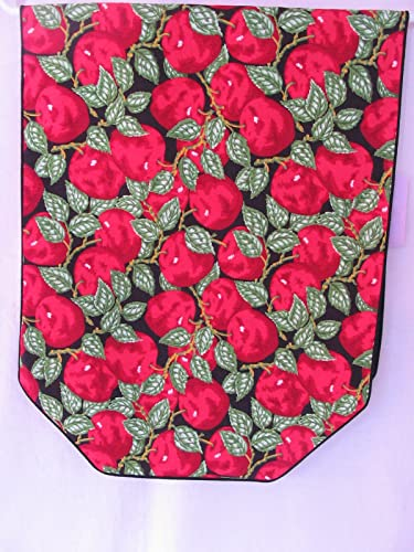 Red Apple Table Runner With Black Background #600
