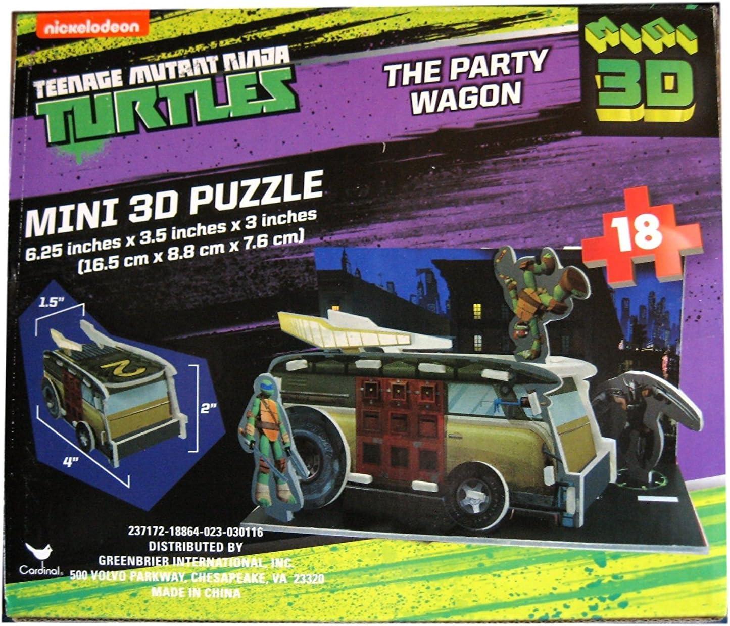 Kids Hot SELLER Party Summer Fun Teenage Mutant Ninja Turtles The Party Wagon Mini 3D Puzzle 18 Piece