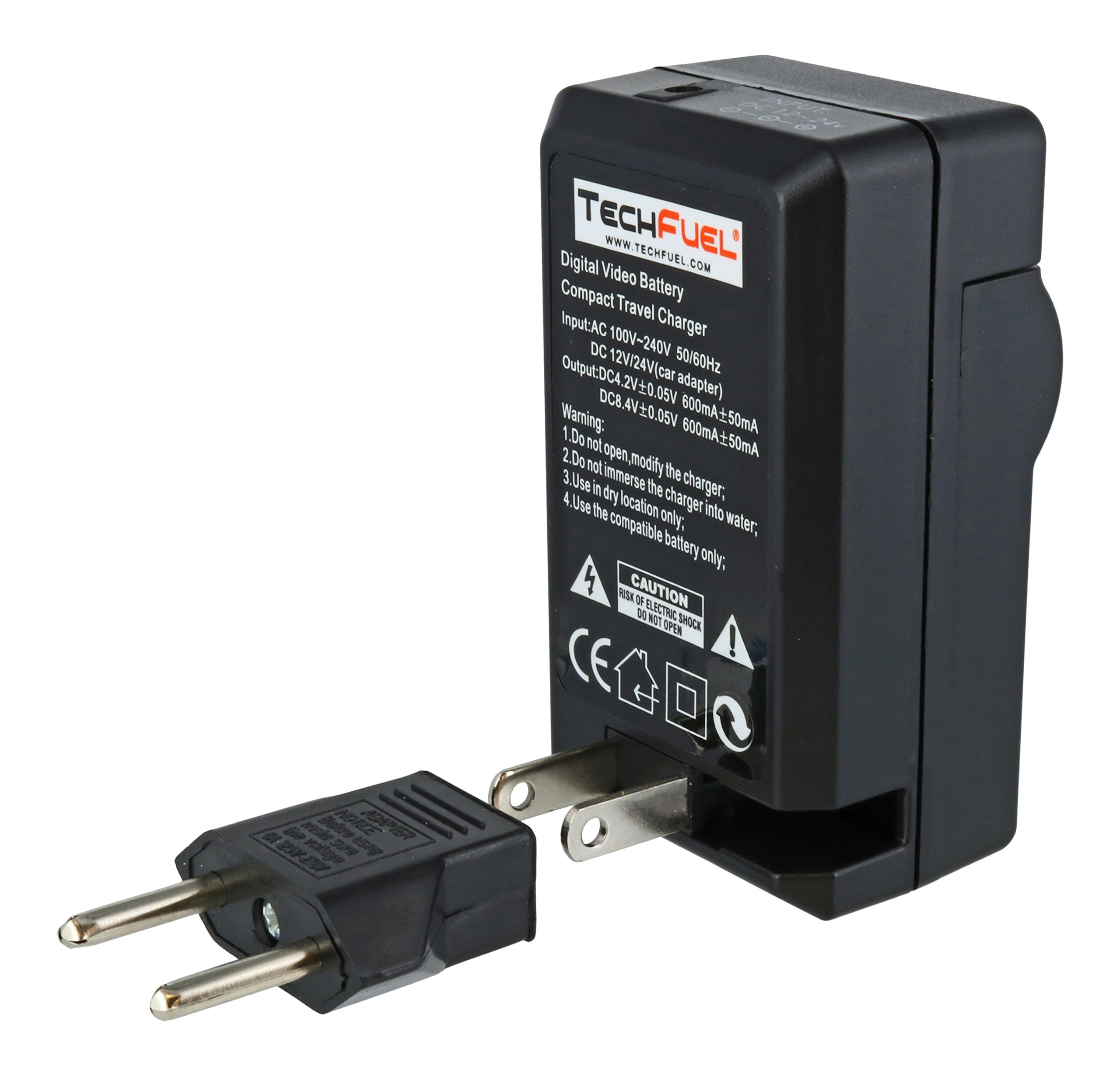 TechFuel Battery Charger Kit for Panasonic HDC-HS9 Camcorder - For Home, Car and Travel Use by TechFuel (Image #5)