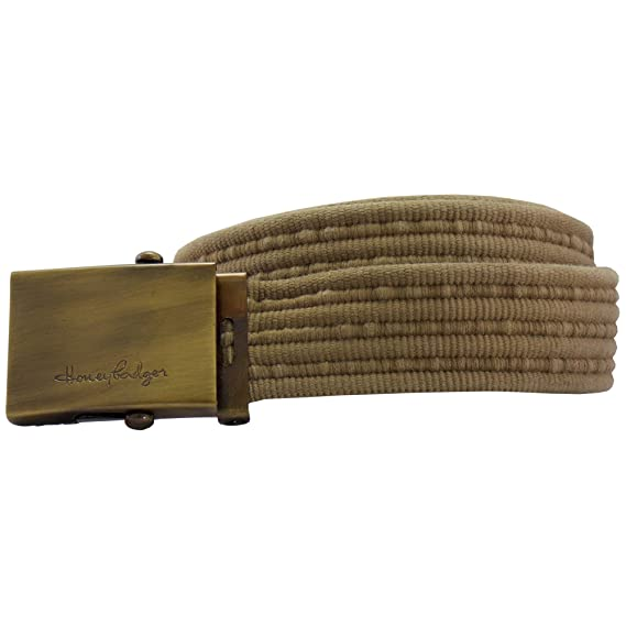Honeybadger Beige Casual Canvas Belt,Size 32 to 40