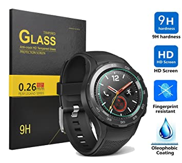 huawei watch 2 Protector de pantalla,KuGi huawei watch 2 - Alta Calidad 9H dureza HD despejan la huawei watch 2 vidrio templado para el reloj ...