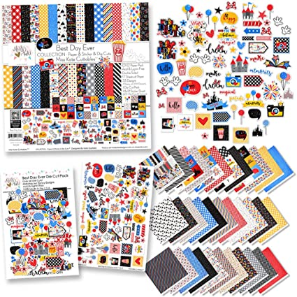 Over 60 Cardstock Scrapbook Die Cuts Paper Die Cuts by Miss Kate Cuttables for Disneyland Walt Disney World Best Day Ever