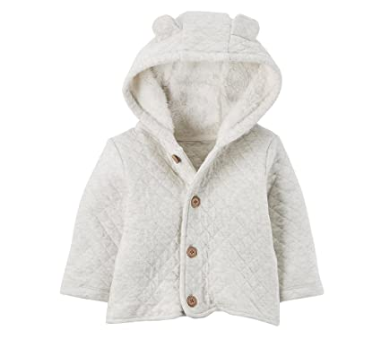36f181c3d Amazon.com  Carter s Baby 3M-24M Hooded Quilted Jacket  Clothing