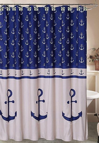 Amazon Caribbean Joe Rockport Shower Curtain Hook Set One