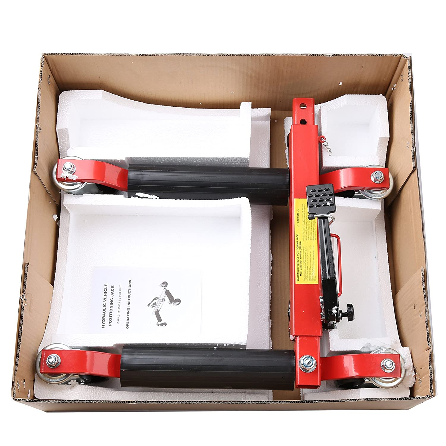 WIN.MAX Lots of 2 1500lb Hydraulic Vehicle Positioning Jack Wheel Dolly Lift Mover Vehicle Car SUV