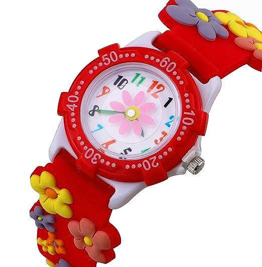 Reloj de Niños Para Niños Niñas Por Vinmori, Profesor de Tiempo 3D Reloj, Pulsera