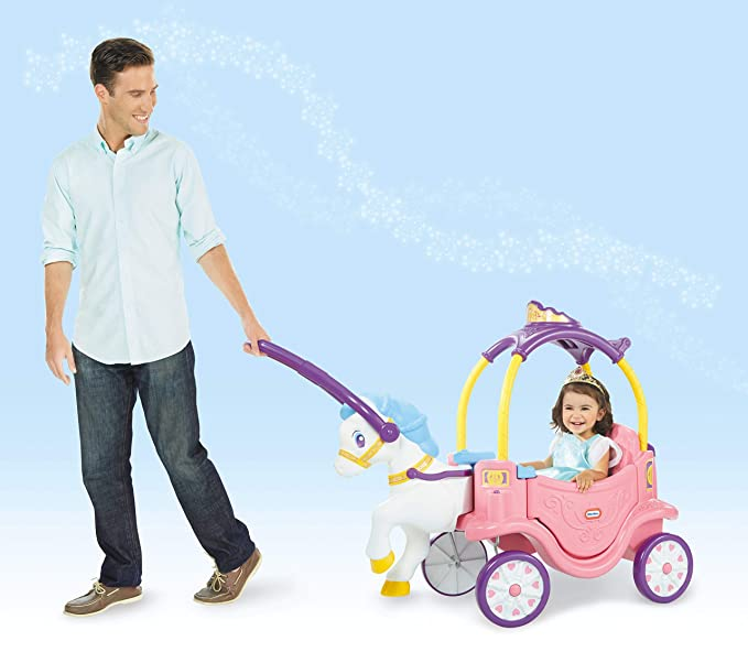 Amazon.com: Little Tikes Princess Horse & Carriage (Renewed ...