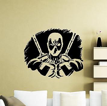 Amazon.com: Deadpool Wall Decal Superhero DC Marvel Comics Vinyl ...