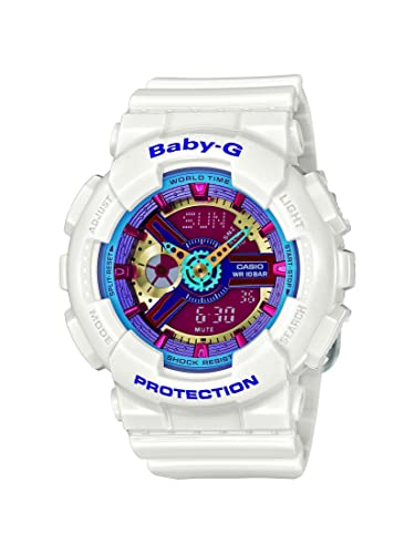 99fb89ce77e7 Casio Baby-G Multicolor Dial Blanco Resina Multi cuarzo damas reloj BA112 -  7 A  Casio  Amazon.es  Relojes
