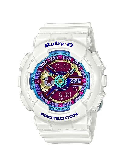 Casio Baby-G Multicolor Dial Blanco Resina Multi cuarzo damas reloj BA112 - 7 A: Casio: Amazon.es: Relojes