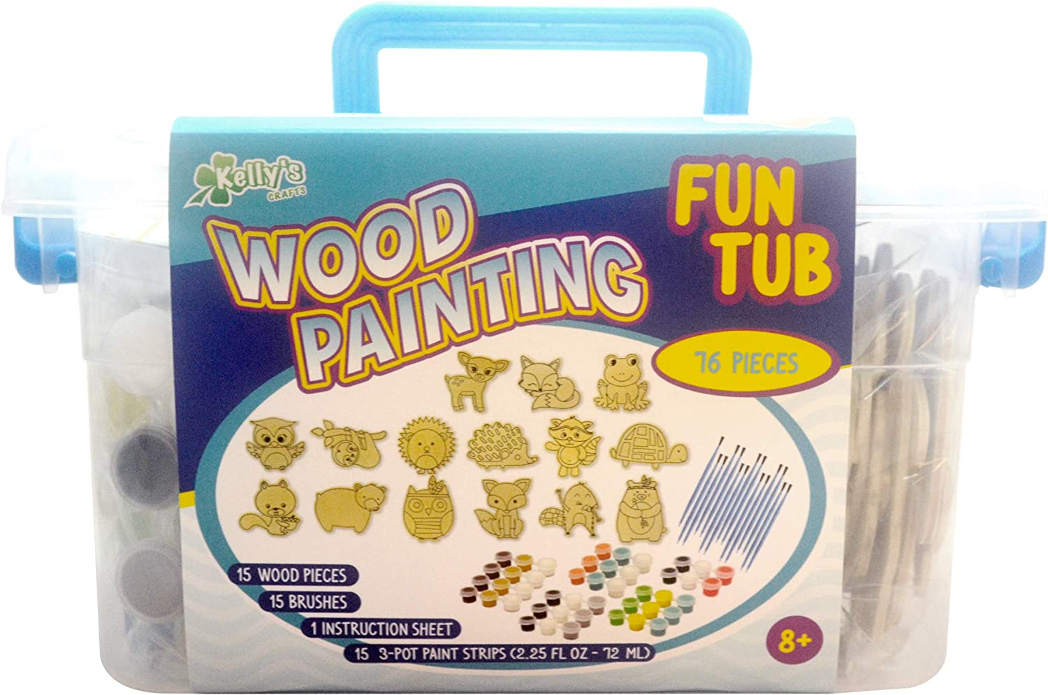 New Image Group Kellys Crafts Wood Painting Fun Tub-Woodland Friends