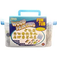 New Image Group WPFT300-70996 Kelly's Crafts Wood Painting Fun Tub-Woodland Friends