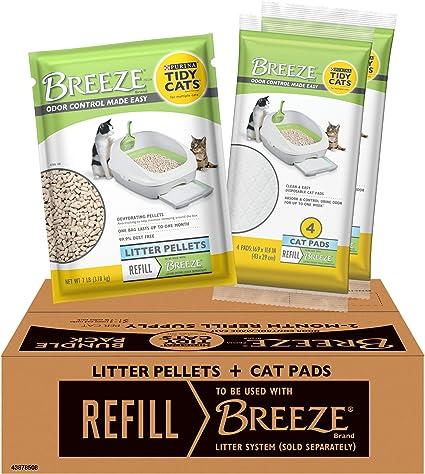 7 lb Pouches New Purina Tidy Cats BREEZE Litter System Cat Pellet Refills 4