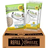 Purina Tidy Cats Cat Litter Box Accessories, Breeze Refill Litter Pellets & Cat Pads Multi Cat Litter - 7.91 lb. Box
