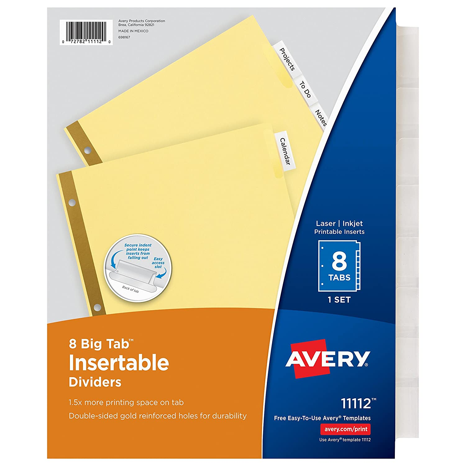 Avery Big Tab Dividers 8 Pack.