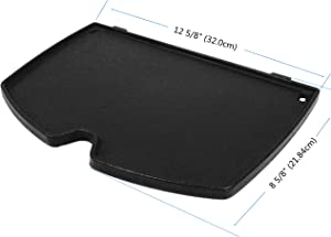BBQSTAR Grill Griddle Matte Cast-Iron for Weber Q100, Q1000 Series 1-Pack, Compatible with Weber 6558