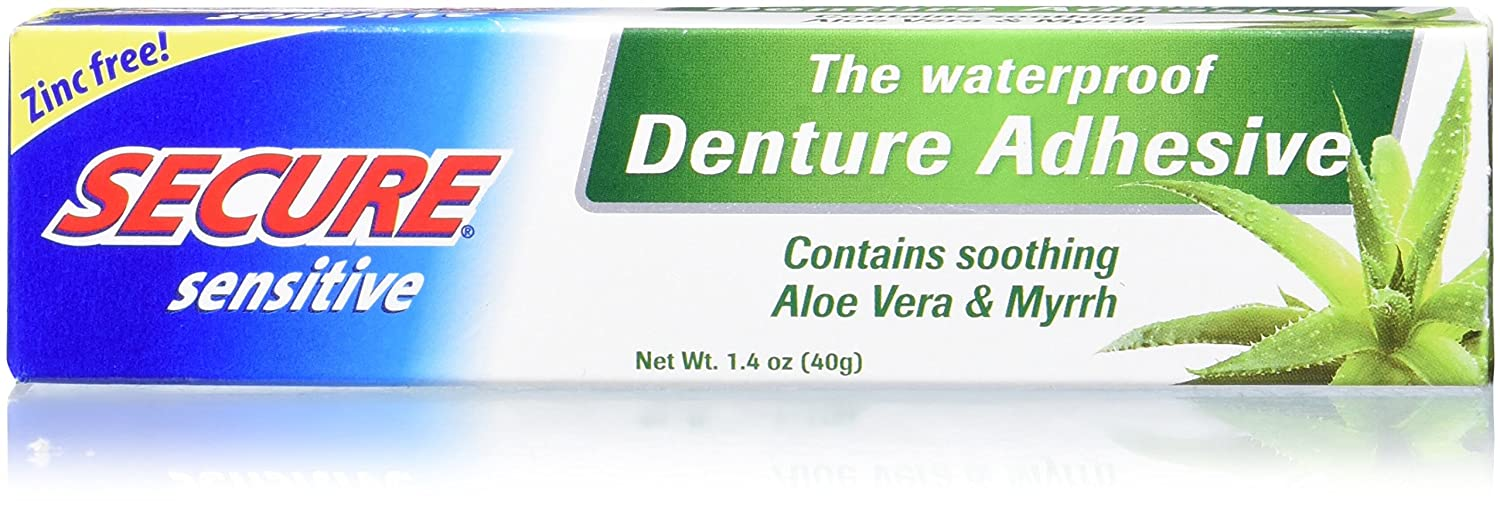 Secure Denture Adhesive >> Secure Denture Adhesive Sensitive 1 4 Ounce Pack Of 4