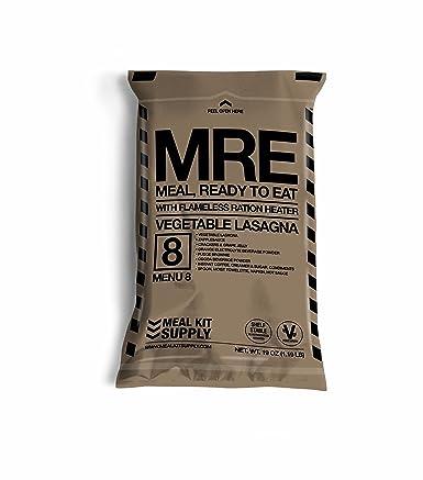 MRE Entree Meal /& HeaterVegetable LasagnaSurvival Camping /& Hunting