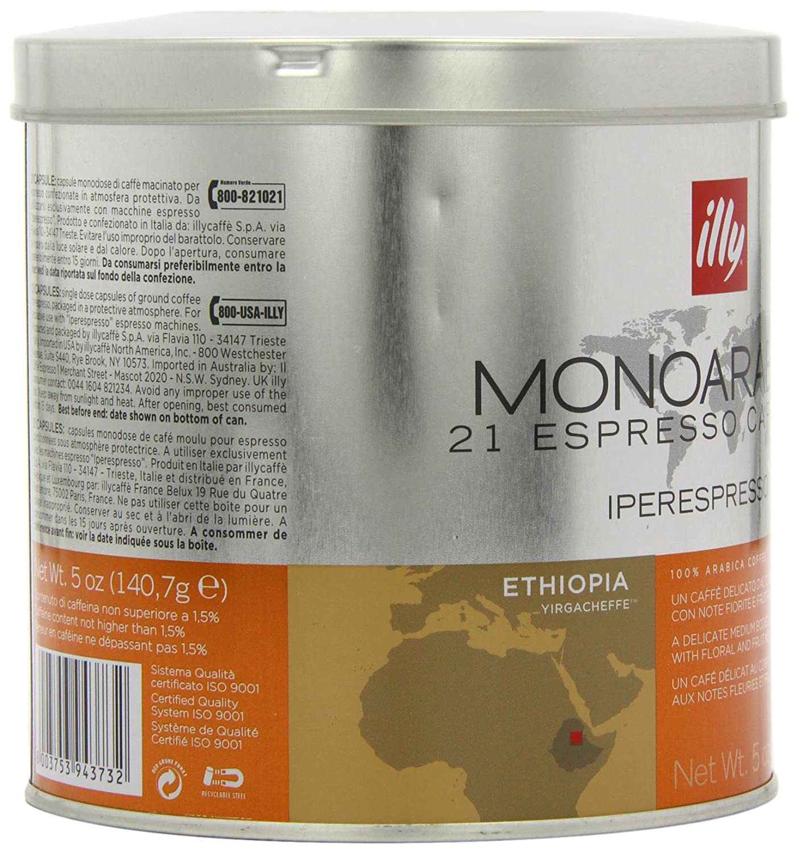 Illy Metodo ipere mediaespresso Espresso de 21 Cápsulas, monoara Bica Etiopía, 1er Pack (1 x 140.7 g): Amazon.es: Alimentación y bebidas