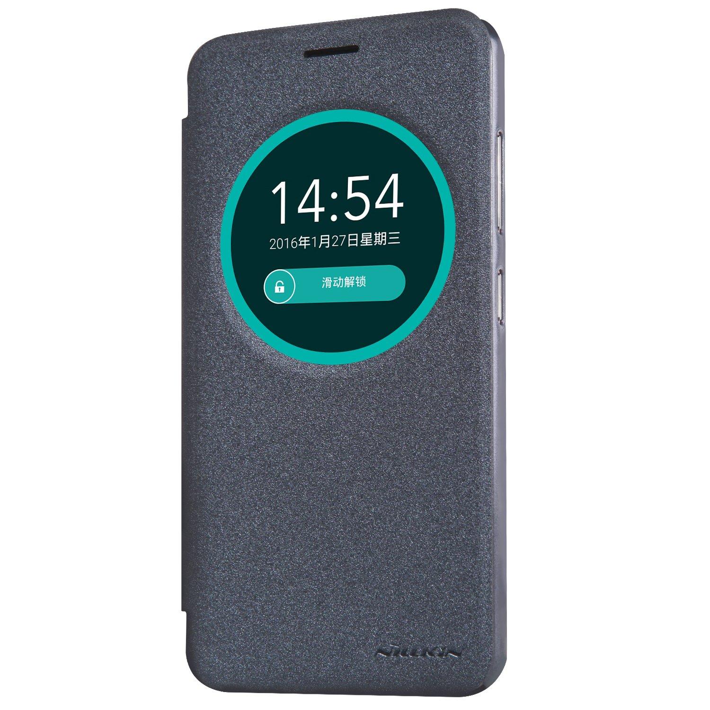 the best attitude f0b38 c2a6e Amazon.com: [nibaijing] ASUS Zenfone Max ZC550KL Case Leather Flip ...