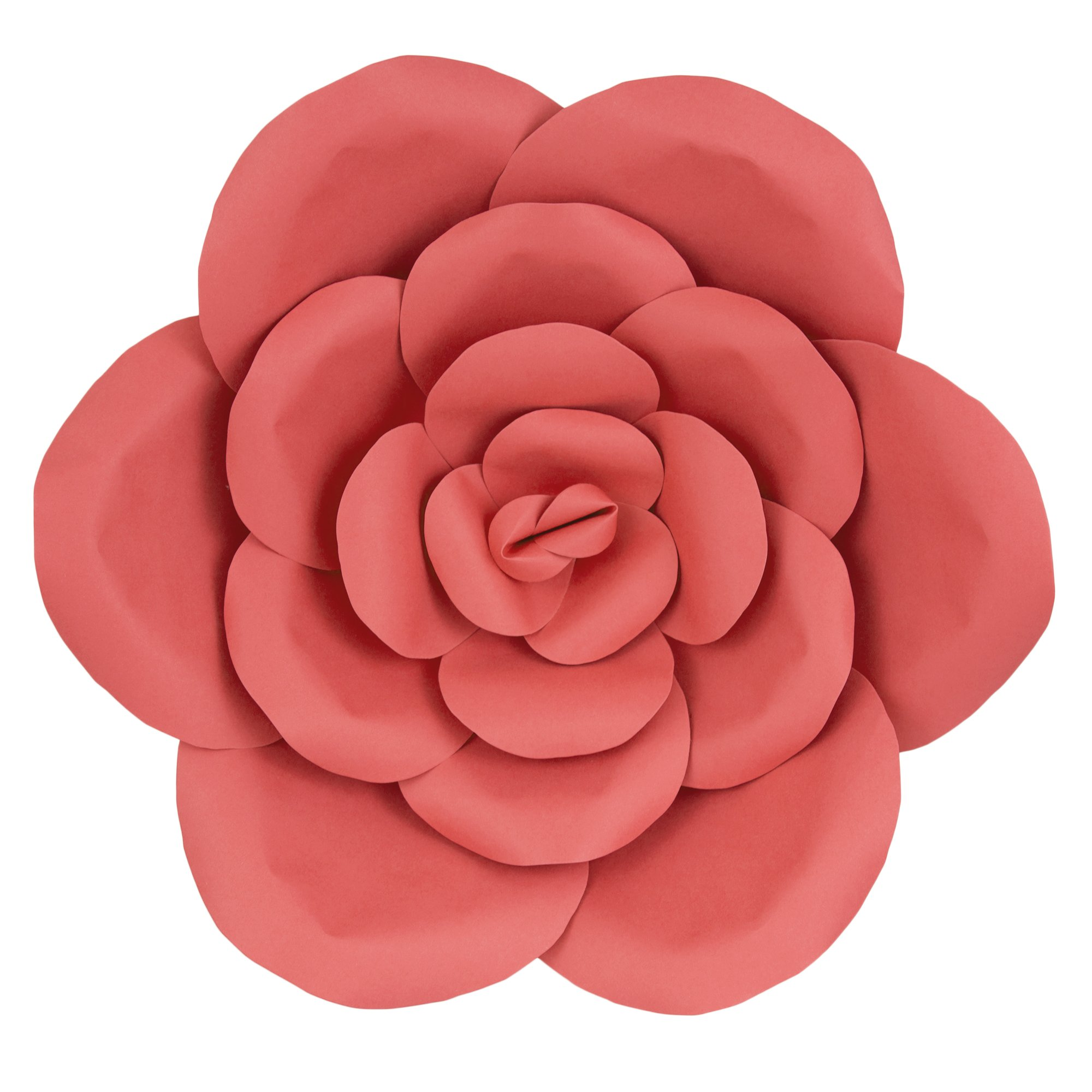 Mega Crafts 16'' Handmade Paper Flower in Coral | for Home Décor, Wedding Bouquets & Receptions, Event Flower Planning, Table Centerpieces, Backdrop Wall Decoration, Garlands & Parties