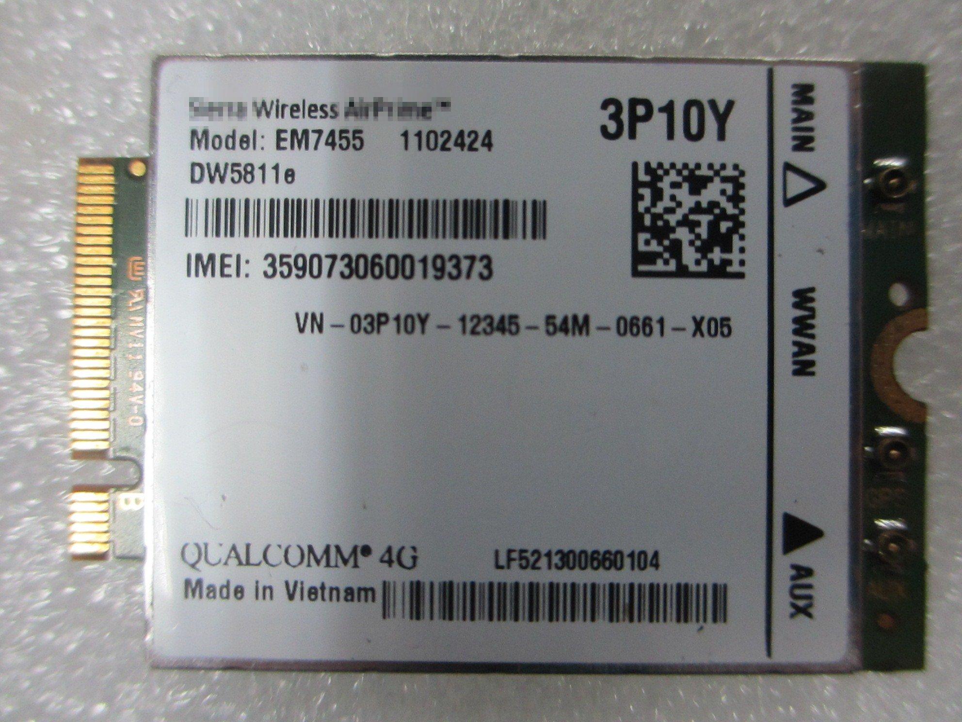 Wireless EM7455 LTE 4G NGFF module DW5811E 3P10Y + FREE ANTENNA by Generic