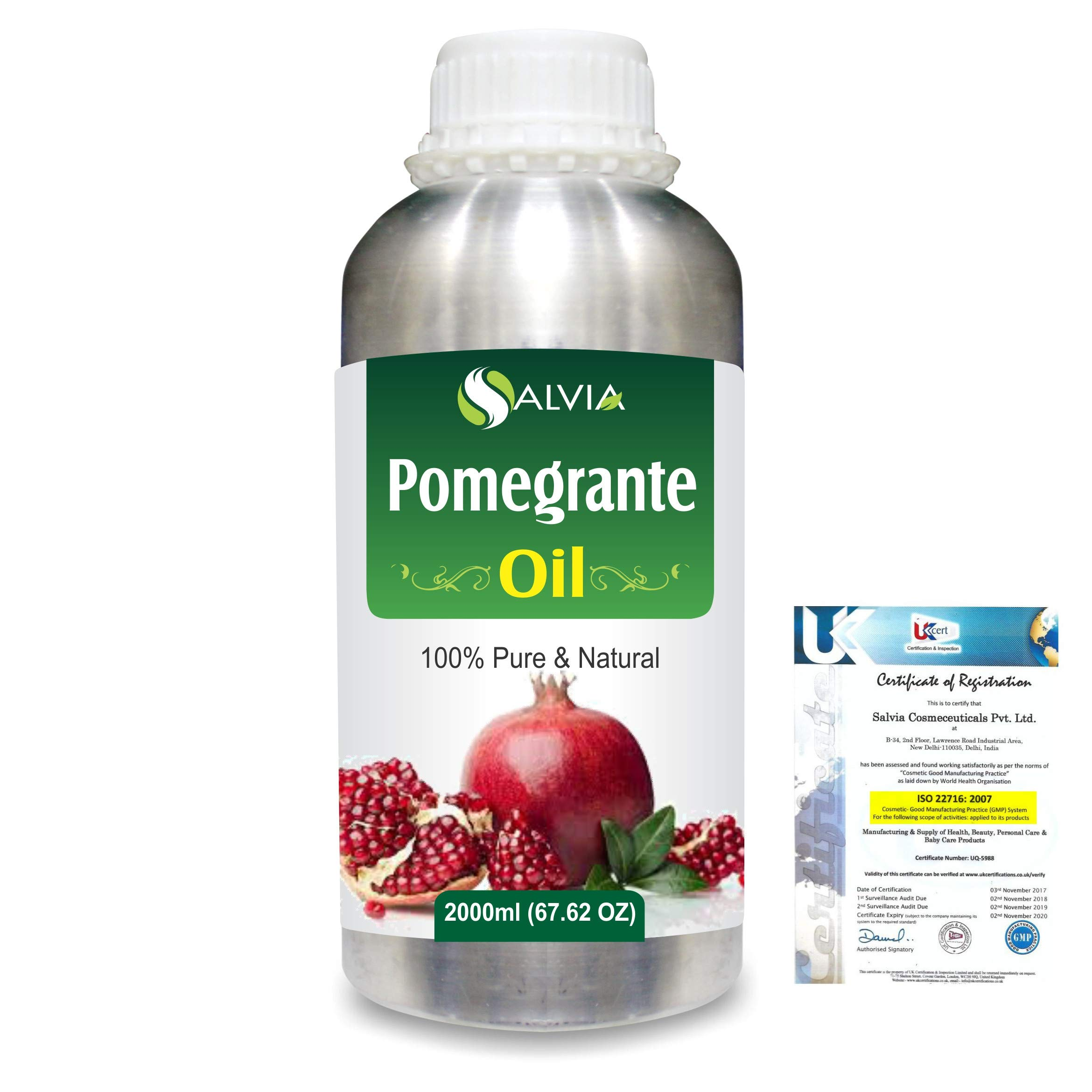 Pomegranate (Punica Granatum) Pure Natural Aromatherapy Therapeutic Uncut Undiluted Carrier Oil 2000ml/67.6 fl. oz. Express Shipping