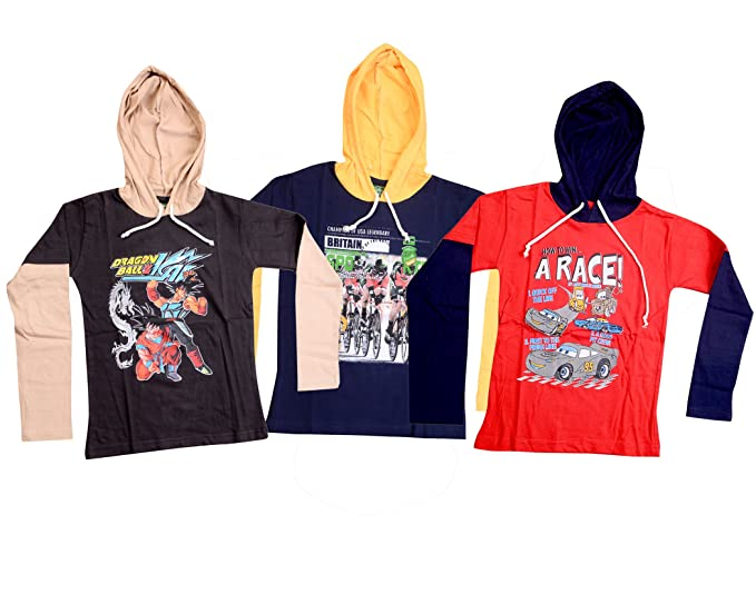197e7aae9 Devil Boys Hooded Doctor - Full Sleeve T-Shirt for Kids (Pack of 3):  Amazon.in: Clothing & Accessories
