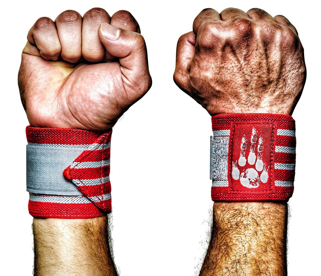 MANIMAL Wrist Wraps Designed for Crossfit, Weightlifting, Powerlifting, Strongman Training and Competition