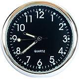superzubehoer AT4 Quartz Car Clock Analog Cockpit Dashboard Black