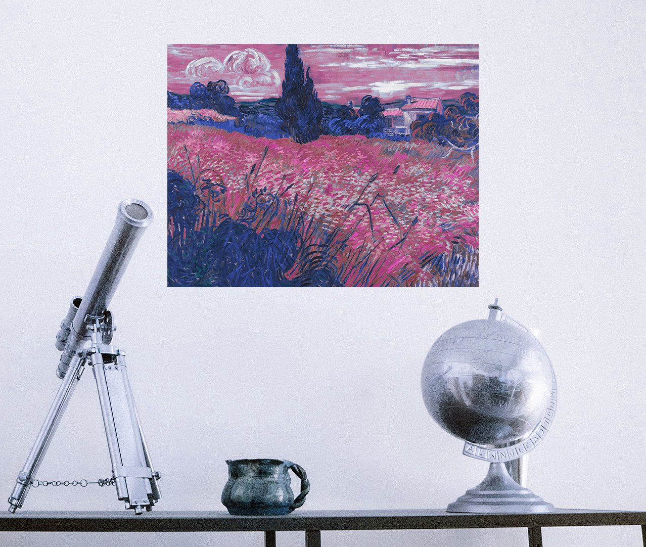 ArtVerse VAN054A1418A Van Goghs Wheat Field in Blue and Pink Removable Art Decal 14 x 18 RetailSource Ltd