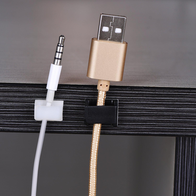 100 Stück Selbstklebend Kabel Drop Kabelklemme Management Clips ...