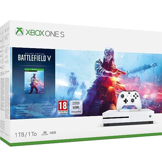 7b7cdeeb415 Xbox One S 1TB Battlefield V console  Amazon.co.uk  PC   Video Games