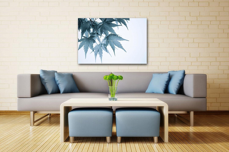 Amazon Com Japanese Maple Leaves Photo On Canvas Minimalist Home Or Office Decor White Blue Grey Autumn Wall Art Ready To Hang 8x10 8x12 11x14 12x18 16x20 16x24 20x30 Handmade