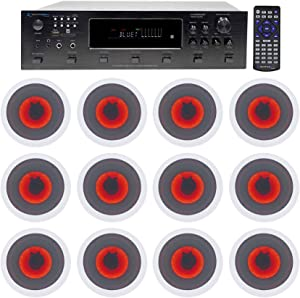 Technical Pro 6000w 6-Zone Home Theater Bluetooth Receiver+12) 6.5