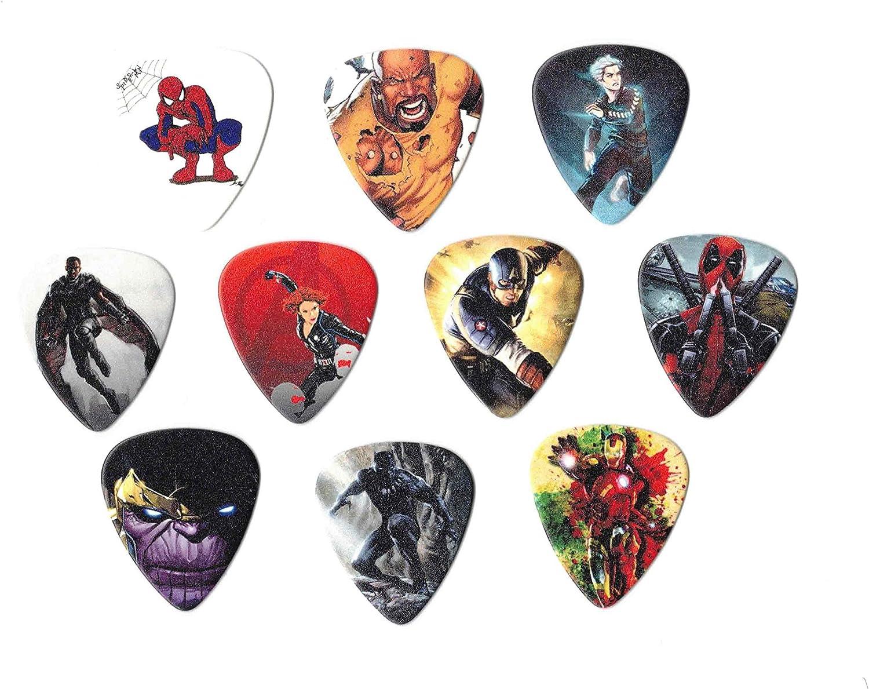 10 medium picks Marvel Avengers Guitar Picks