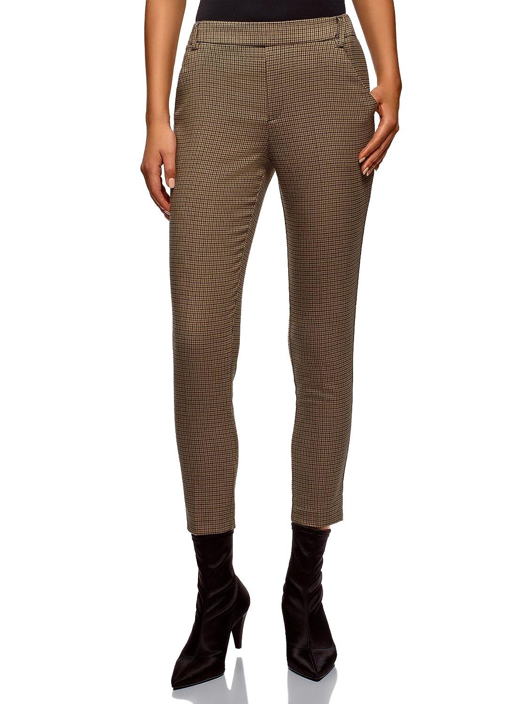 oodji Ultra Mujer Pantalones Ajustados con Cintura Elástica ... 63f7c499a271