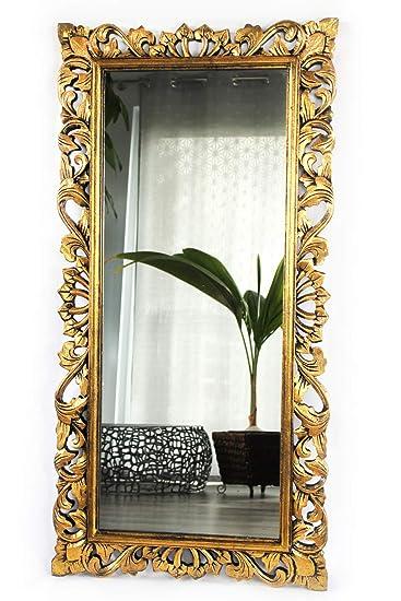Barockspiegel Wandspiegel Barock Rokoko Spiegel Holz silber antik 120cm x 80cm