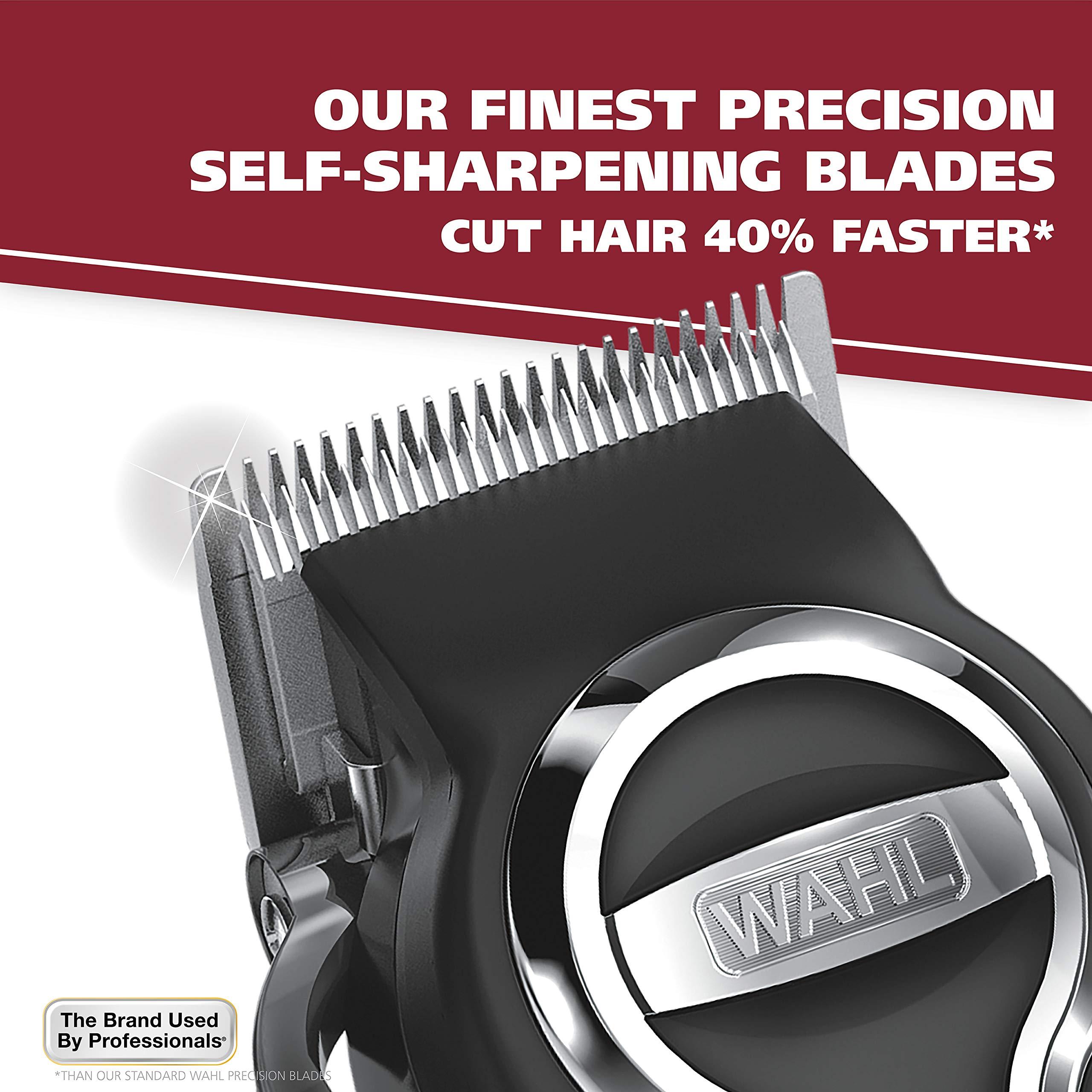 Wahl Clipper Elite Pro High Performance Haircut Kit for men, includes Electric Hair Clippers, secure fit guide combs with stainless steel clips - By The Brand used by Professionals #79602 by WAHL (Image #3)